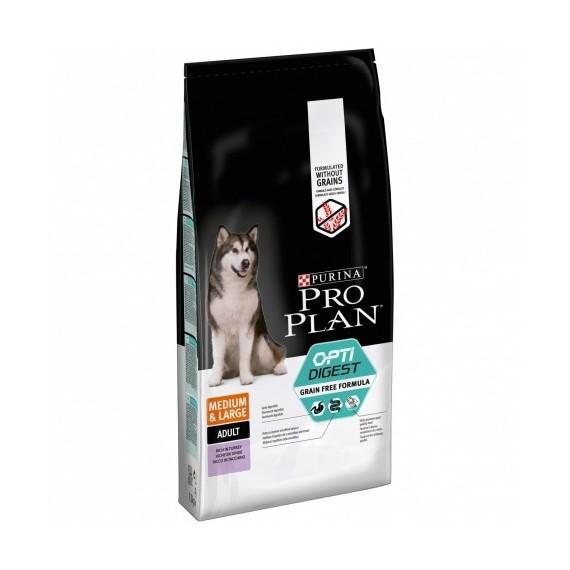 Pro Plan Optidigest Grain Free Pavo Perros Adultos Medianos y Grandes - 1