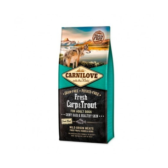 Carnilove-Canine-Adult-Fresh-Carpa-&-Trucha-Hair-Skin