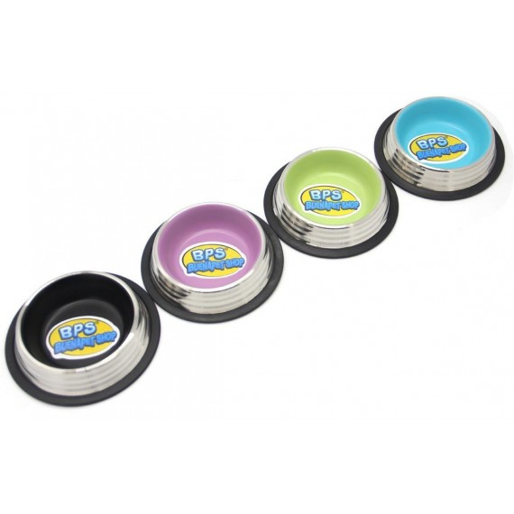 Comedero Acero Inoxidable Antideslizante de Colores - 1