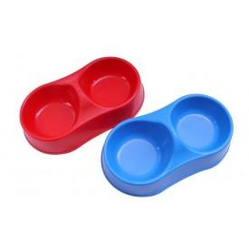 Comedero-Plástico-Doble