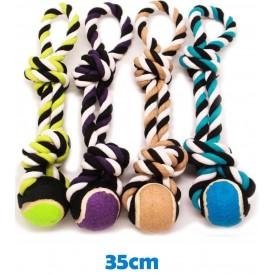 Hueso Cuerda de 2 Nudos con Pelota de Tenis - 1