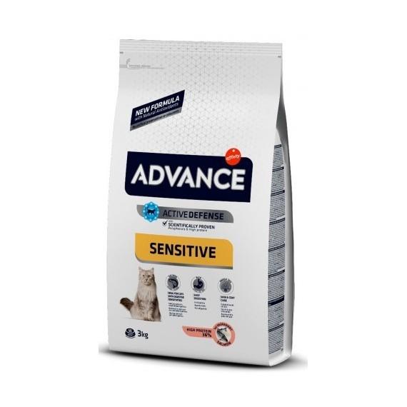 Advance Gatos Sensitive Salmón y Arroz - 1