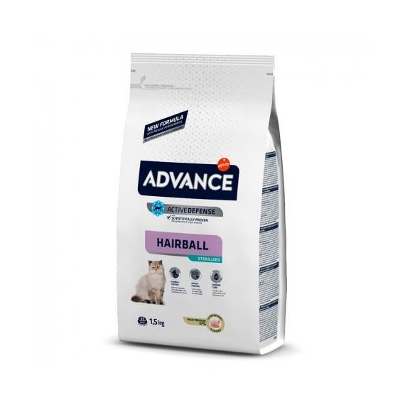 Advance Gatos Esterilizados Hairball - 1