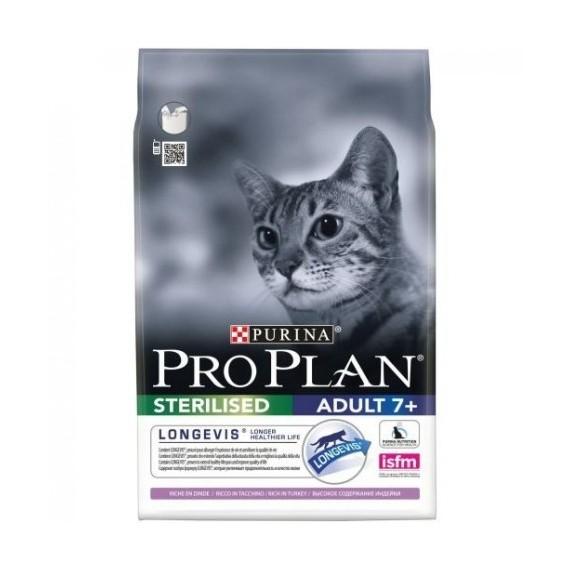 Purina Pro Plan Gato Sterilised 7+ Pavo - 1
