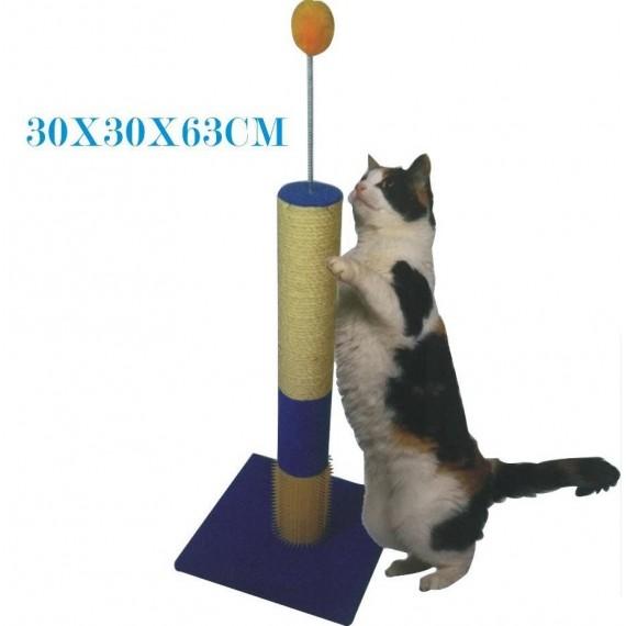 Rascador-para-Gato-con-Poste-y-Pelota