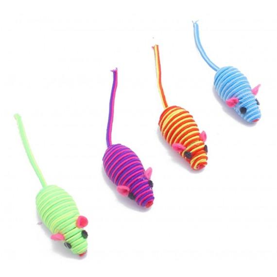 Ratón para Gatos Multicolor con Sonido - 1