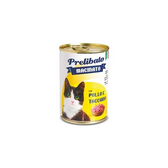 Prelibato Gato Pollo y Pavo Lata - 1